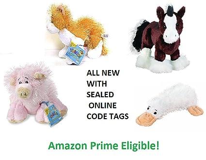 Amazon com: Webkinz Bundle with Codes - Orange Cat, Pig, Clydesdale