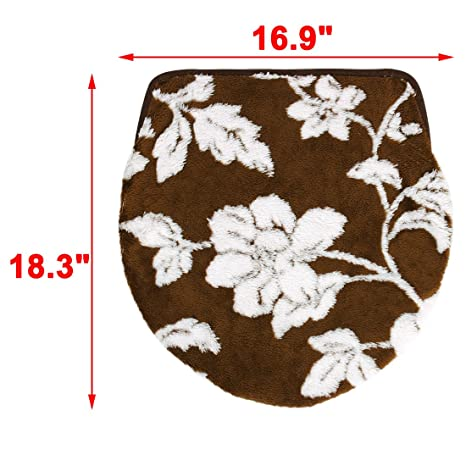 Peachy Amazon Com Uxcell Bathroom Washable U Shaped Flower Pattern Ocoug Best Dining Table And Chair Ideas Images Ocougorg