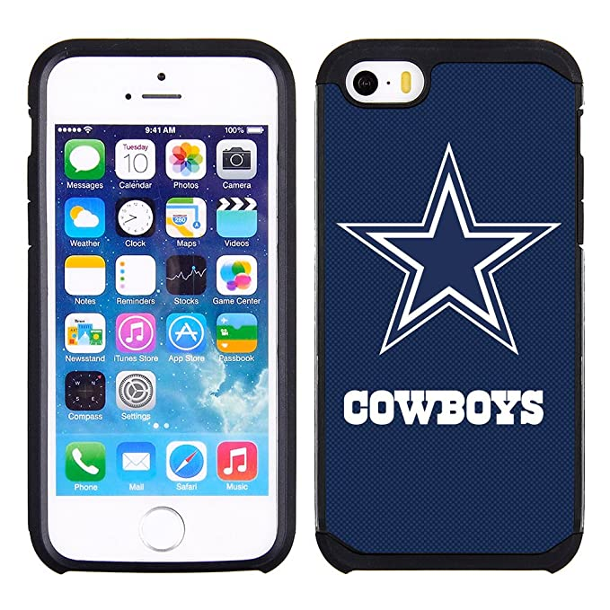 best authentic efea9 cafa2 Prime Brands Group Textured Case with Team Color Design for Apple iPhone SE  / 5s / 5 - NFL Licensed Dallas Cowboys