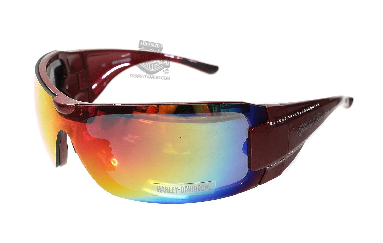 ハーレーダビッドソンhd8003s-p17レッドフレームグレーピンクグラデーションレンズサングラスby MARCOLIN Eyewear B01J44HXSY   No Size