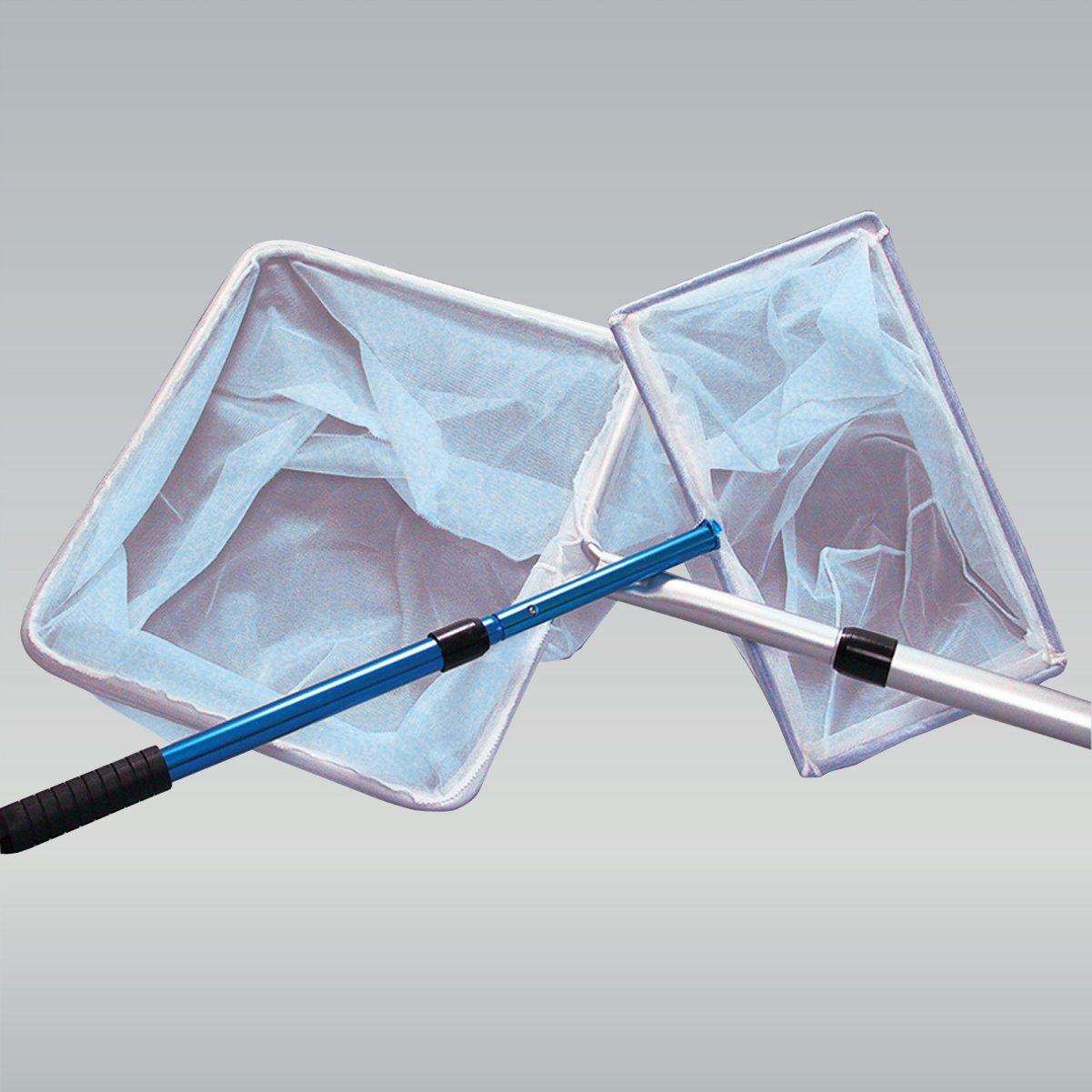 JBL Epuisette bassin 30x20cm blanc fine, 90cm, Épuisette de bassin à manche télescopique de 90 cm 2870600