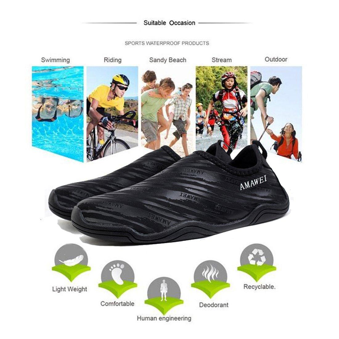 AMAWEI Water Shoes Quick for Boys Girls Kids Quick Shoes Dry Beach Swim Sports Aqua Shoes for Pool Surfing Walking B07CNN1HXG 7 M US Big Kids/9 (B) M Women Black c9df42