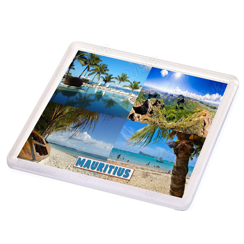 Dessous de verre souvenir de l/'Afrique de l/'Est de l/'/Île Maurice.
