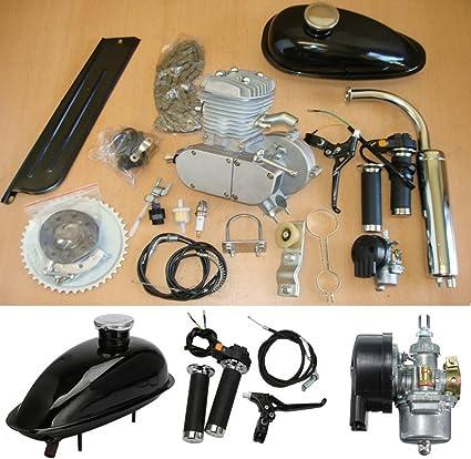 AUDEW Motor 2 Tiempos de Ciclo 1x80cc Plata Bicicleta Motorizada ...