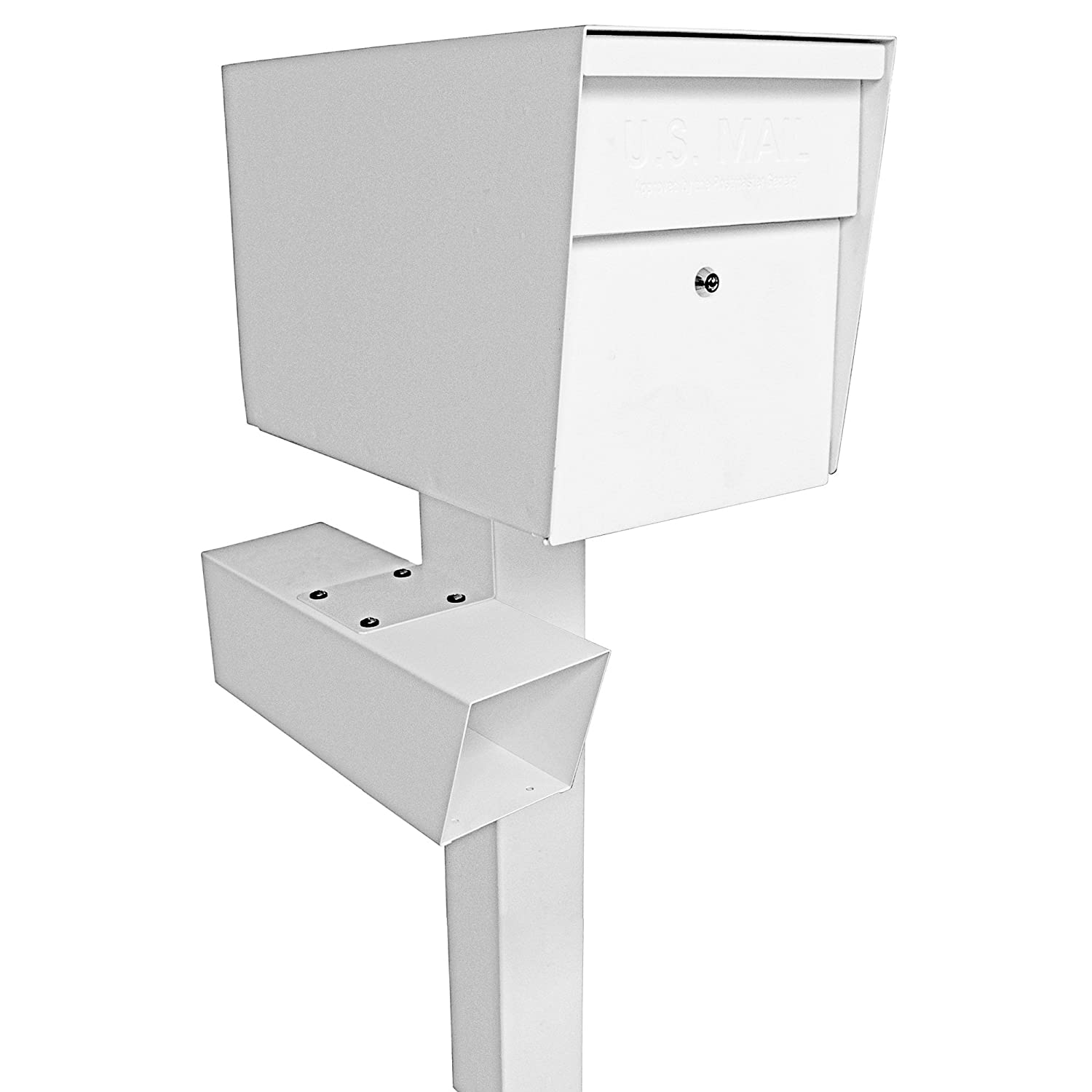 White Mail Boss 7113 Newspaper Holder