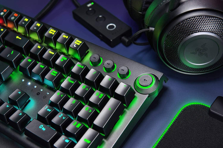 Orange Switch IDS Home BlackWidow Elite Full Color Optical Flexible Mechanical Keyboard