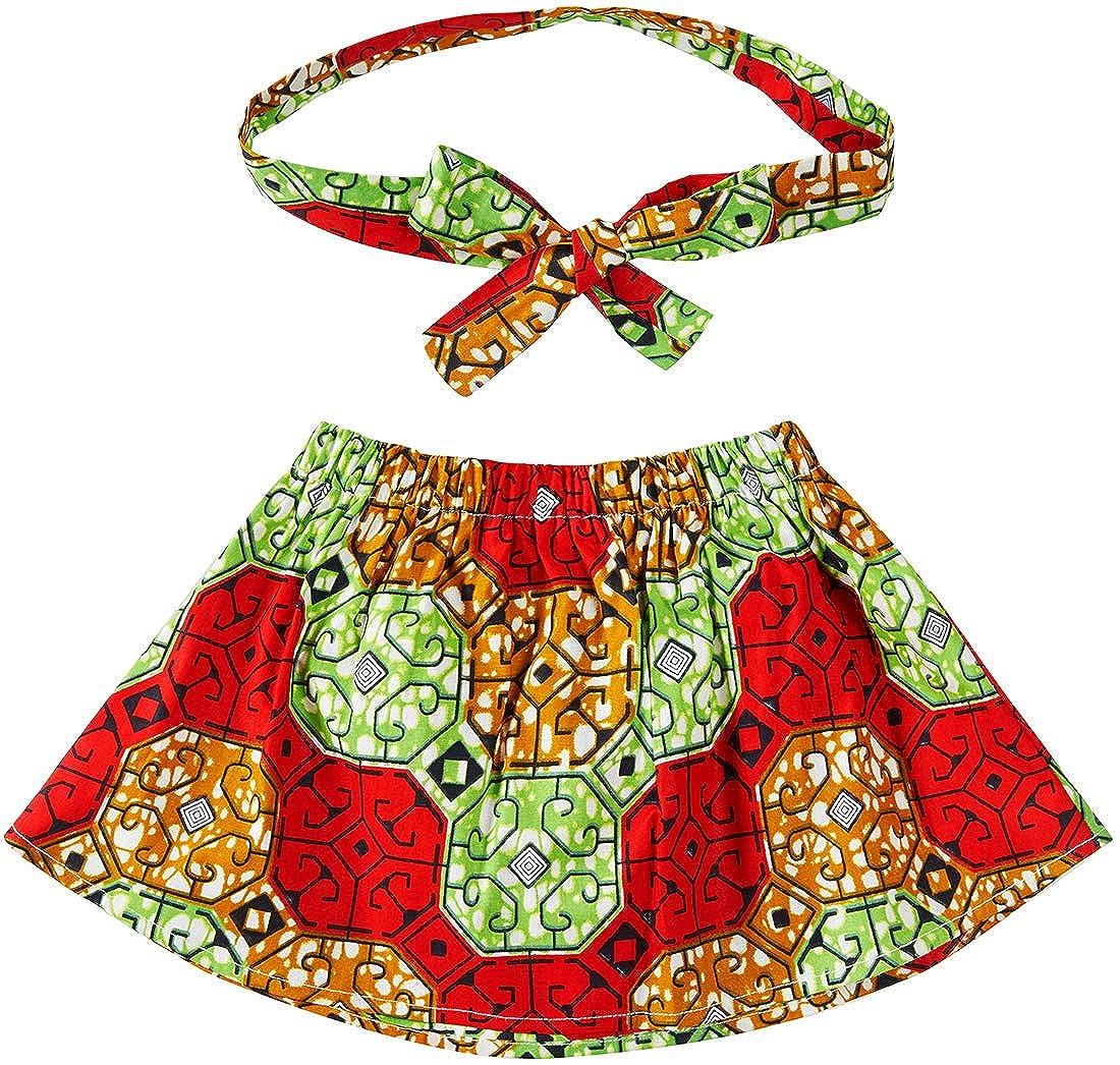 Aikaplus Baby Girl African Print Skirt Dsahiki Tradition Clothing