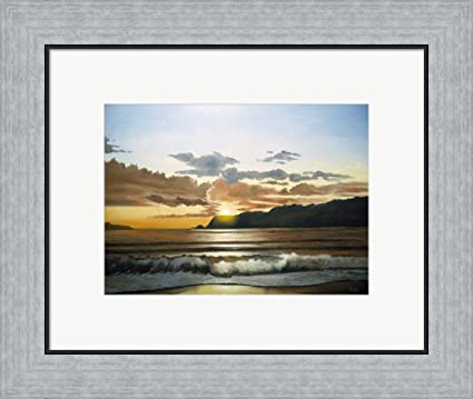 Amazon.com: Beach 3 by Thomas Linker Framed Art Print Wall Picture ...