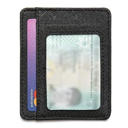 Tarjetero de Credito con Bloqueo RFID | Cartera Pequeño | Billetera Fina | Monedero Minimalista para Hombre y Mujer | hasta 7 Tarjetas | Súper Delgada ...