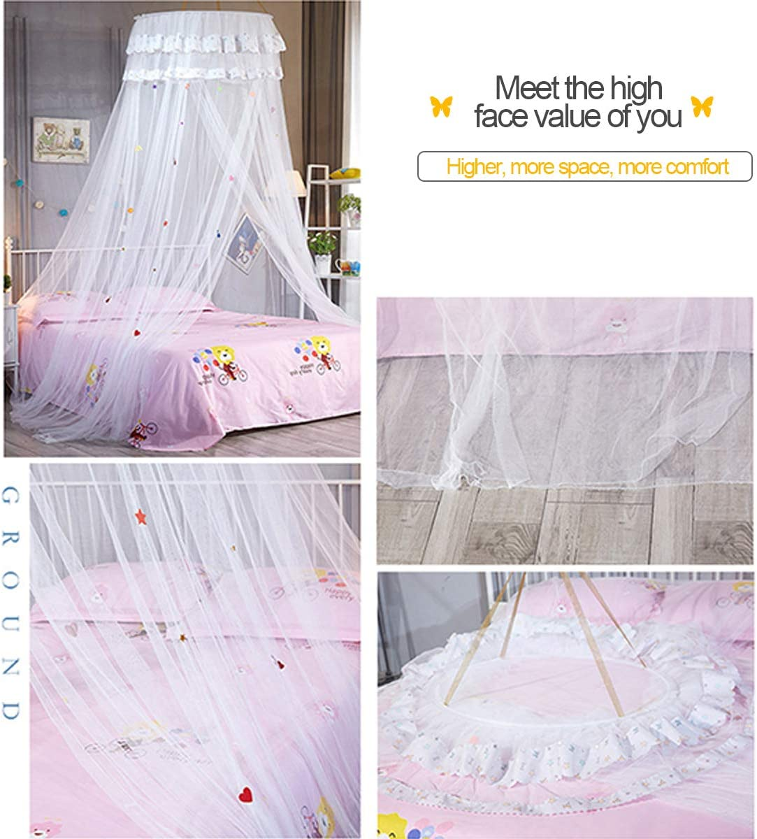 Blue Fit for 1.5M Bed Mosquito Net for Bed Round Ceiling for Girls Bed Canopy Netting