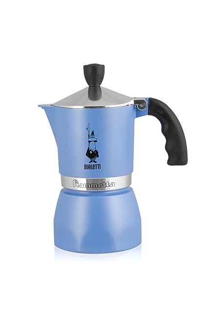 Bialetti Fiammetta - Cafetera italiana, 1 taza, Azul