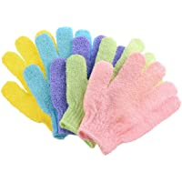 Haobase 5Pcs Exfoliating Gloves Body Scrub - Shower/Bath