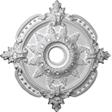 "Ekena Millwork CM28BE Benson Classic Ceiling Medallion, 28 3/8""OD x 3 3/4""ID x 1 5/8""P (Fits Canopies up to 6 1/2""), Factory"