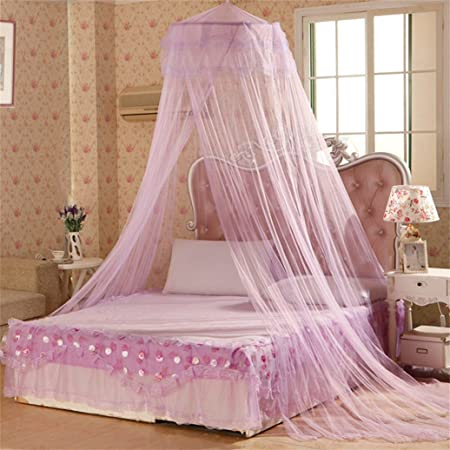 Gemini/_mall/® White Lace Bed Canopy Mosquito Net Dome Fly Insect Net Protection