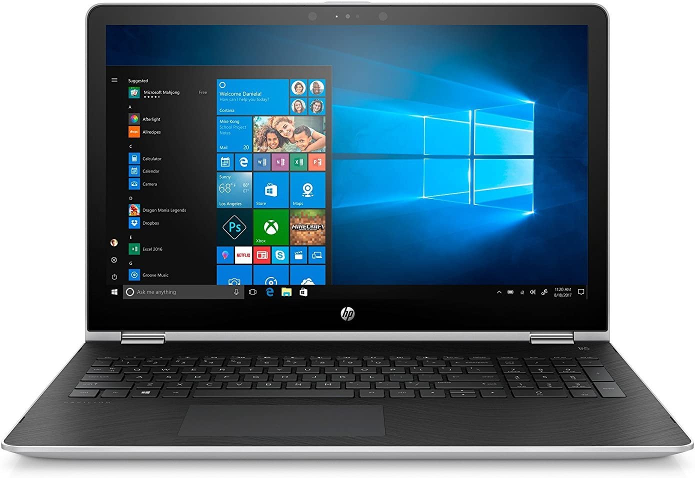 2018 Flagship HP X360 15.6 Inch Full HD Touchscreen 2-in-1 Laptop with Stylus Pen (Intel Core i5-7200U, 8GB RAM, 128GB SSD, AMD Radeon 530 2GB Dedicated, Bluetooth, Windows 10)