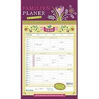 Familienplaner Vintage 2020: Familienkalender, 5 große Spalten. Familientimer mit Ferienterminen, extra Spalte und Vorschau für 2021. Format: 27 x 47 cm