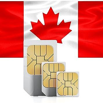 Carte Sim Canada.Carte Sim Canada Prepayee Avec 1go 30 Jours Amazon Fr