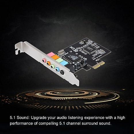 Docooler Pci E Express Karte 5 1 Sound 5 Port Computer Zubehör