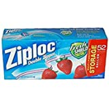Ziploc Double Zipper Storage Bags - Gallon, 52 Count