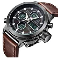 Watch, Mens Watches Digital Multifunction Military Waterproof LED Calendar Nylon Analog Wrist Watch