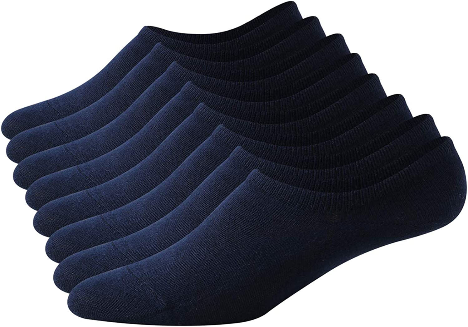 Women /& Men No Show Loafer Socks,Non-Slip Casual Low Cut Boat Sock invisible socks 6//8 pairs