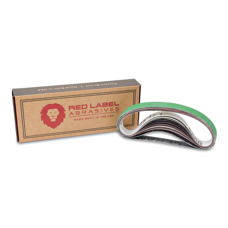 1/2 X 12 inch Coarse P80 Grit/Medium P320 Grit/Fine P800 Grit/Ultra Fine P5000 Grit Knife Sharpener Sanding Belts, 10-Pack Assortment (Compatible with Work Sharp Knife & Tool Sharpener)
