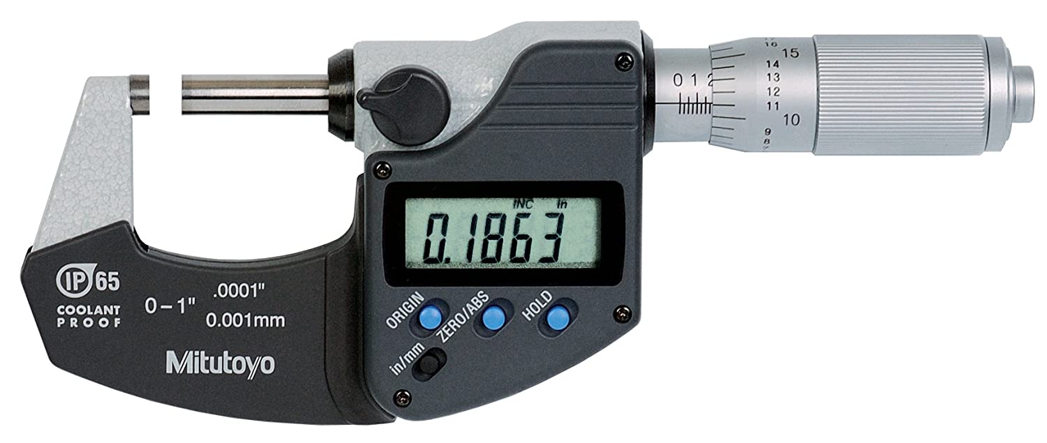 """Electronic Micrometer,0 to 1/"""",0.0001/"""" MITUTOYO 293-349-30"""