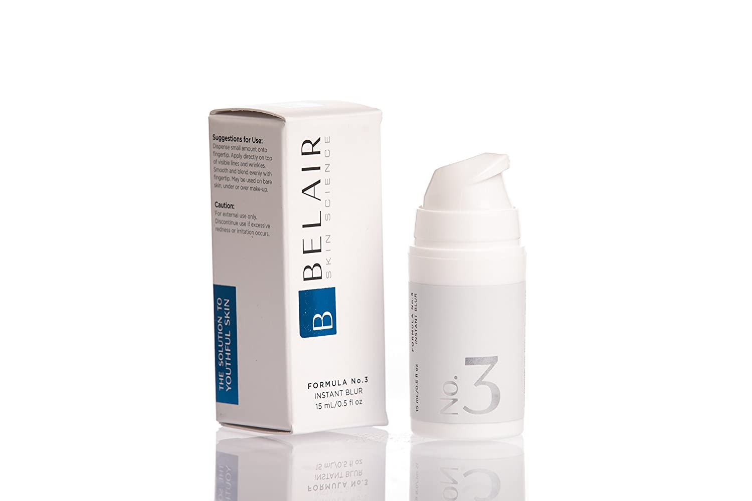 Bel Air Skin Science Instant Blur Face Primer Pore Eraser, Skin Smoother, Makeup Primer Anti Aging Cream 0.5 Ounce