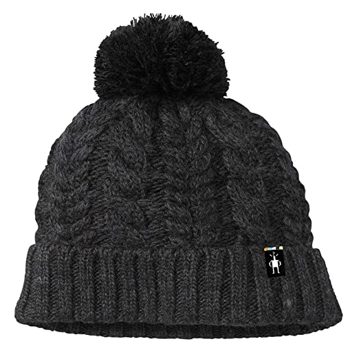 1001617176a Amazon.com  SmartWool Ski Town Hat (Charcoal Heather) One Size ...
