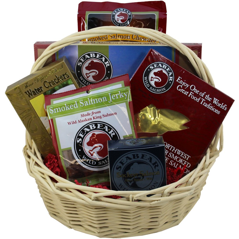 Smoked Salmon Seafood Lovers Red Gourmet Food Gift Basket by Art of Appreciation Gift Baskets