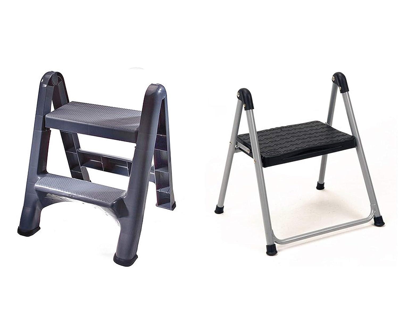 Fabulous Amazon Com Rubbermaid 2 Tier Folding Step Stool Gray Customarchery Wood Chair Design Ideas Customarcherynet
