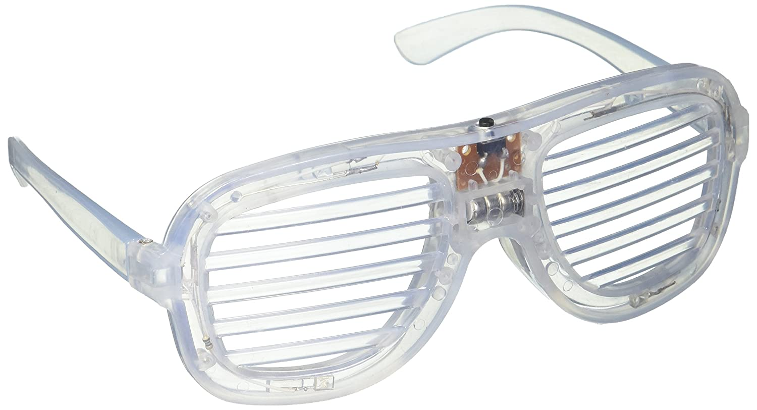Clear LED Slotted Sunglasses Great for Raves or Parties SxHaXsMWJ