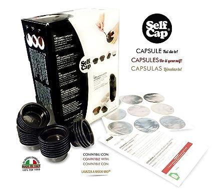 400 Cápsulas caricabili Self Cap para Lavazza a Modo Mio (no ai Café industriales.