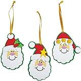 Foam Simple Santa Ornament Craft Kit/Crafts/Activity/School Supplies/Christmas Ornaments-makes 12