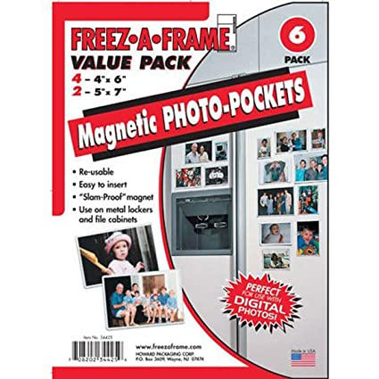 amazon com clear magnetic photo frame pockets freez a frame for