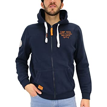 f83c1b88b00f Camp David Herren Kapuzenjacke mit Artwork am Rücken  Amazon.de ...