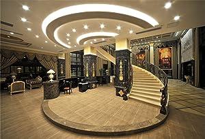 AOFOTO 7x5ft Modern Luxury Interior Decoration Background Spiral Stair Photography Backdrop Furniture Man Woman Adult Portrait Photoshoot Studio Props Video Drape Wallpaper