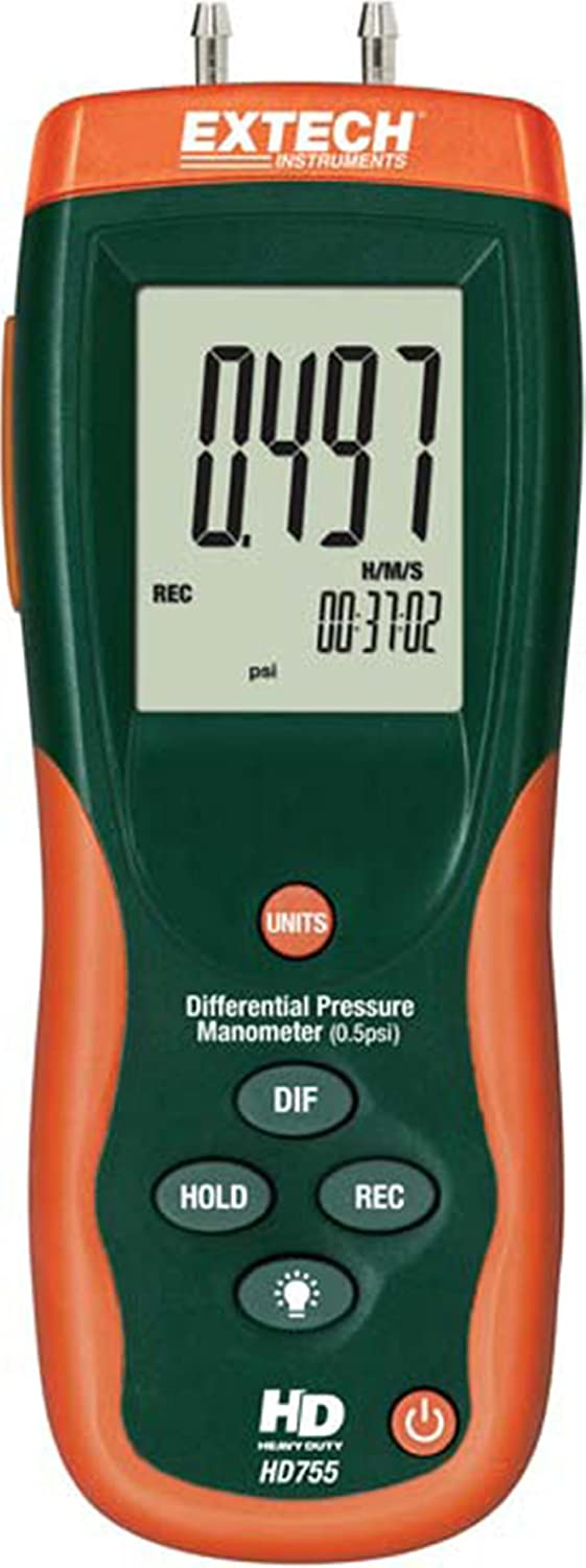 Extech HD755 Differential Pressure Manometer- 0.5PSI