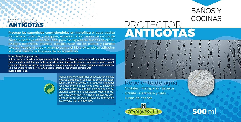 MONESTIR Protector ANTIGOTAS Repelente de Agua Cristales, mamparas ...