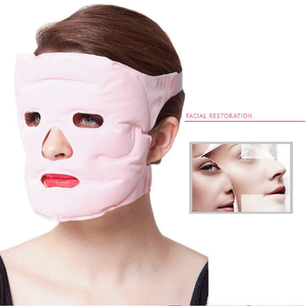 Auch Hot & Cold Facial Therapy Mask, Reusable Face Gel Microwavable Freezable Mask for Swollen Face, Puffy Eyes, Stress