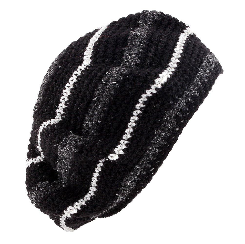 3e7567dc POM London Crochet Tam Beret Hat: Black, Charcoal, Cream at Amazon Women's  Clothing store: