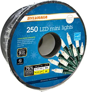 SYLVANIA LED Mini Christmas Lights, Warm White
