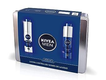 Nivea Men Pack Active Age, Caja de Regalo, Fluido Hidratante Facial de Día 1 x 50 ml y Crema Regeneradora de Noche 1 x 50 ml, Kit para Hombres con Cremas Antiedad: Amazon.es