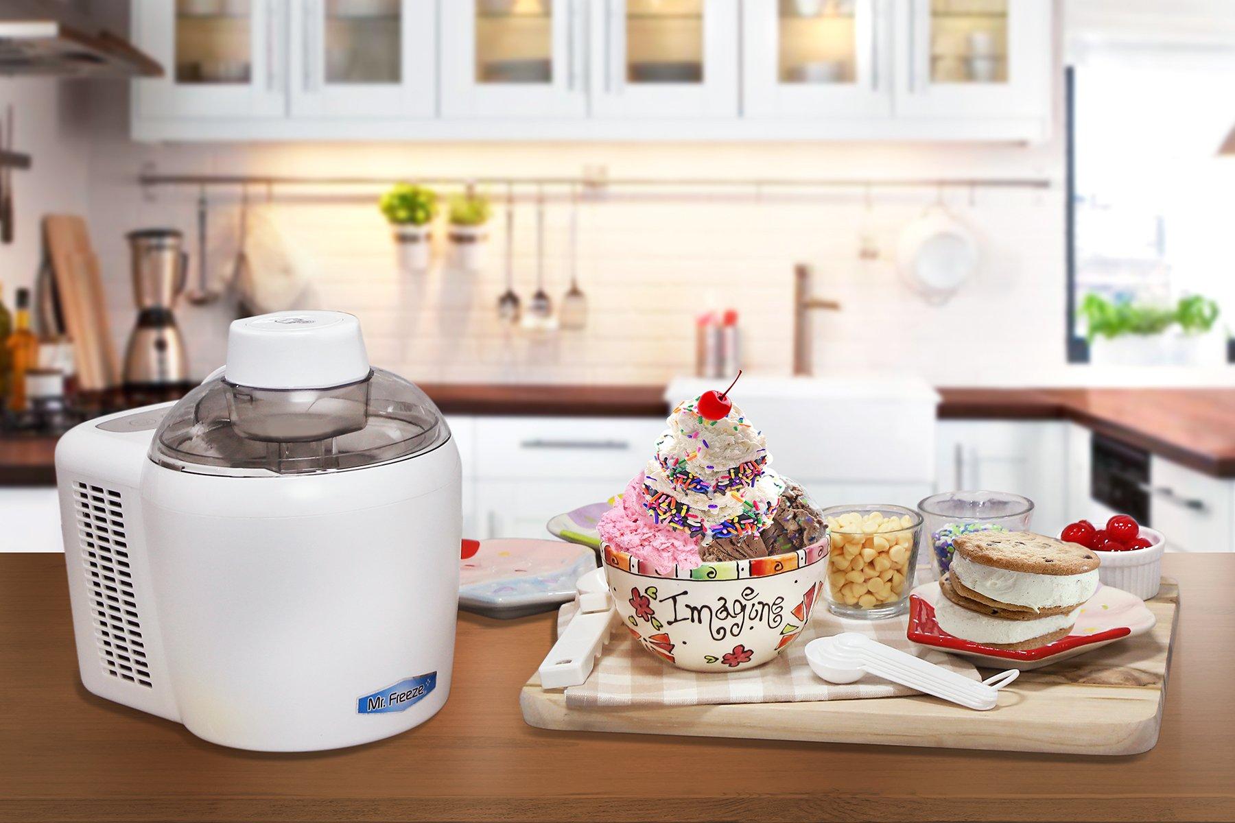 Mr. Freeze EIM-700 Self-Freezing Self-Refrigerating Ice Cream Maker, 1.5 Pint, White by Maxi-Matic (Image #7)