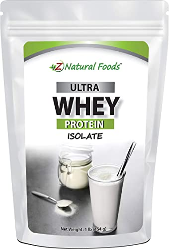 Grass Fed Whey Protein Isolate – Unflavored – All Natural Protein Powder Made in The USA – Mix in A Smoothie, Shake, Drink, Or Recipe – Hormone Free, Unsweetened, Non GMO, Kosher Gluten Free – 1 lb
