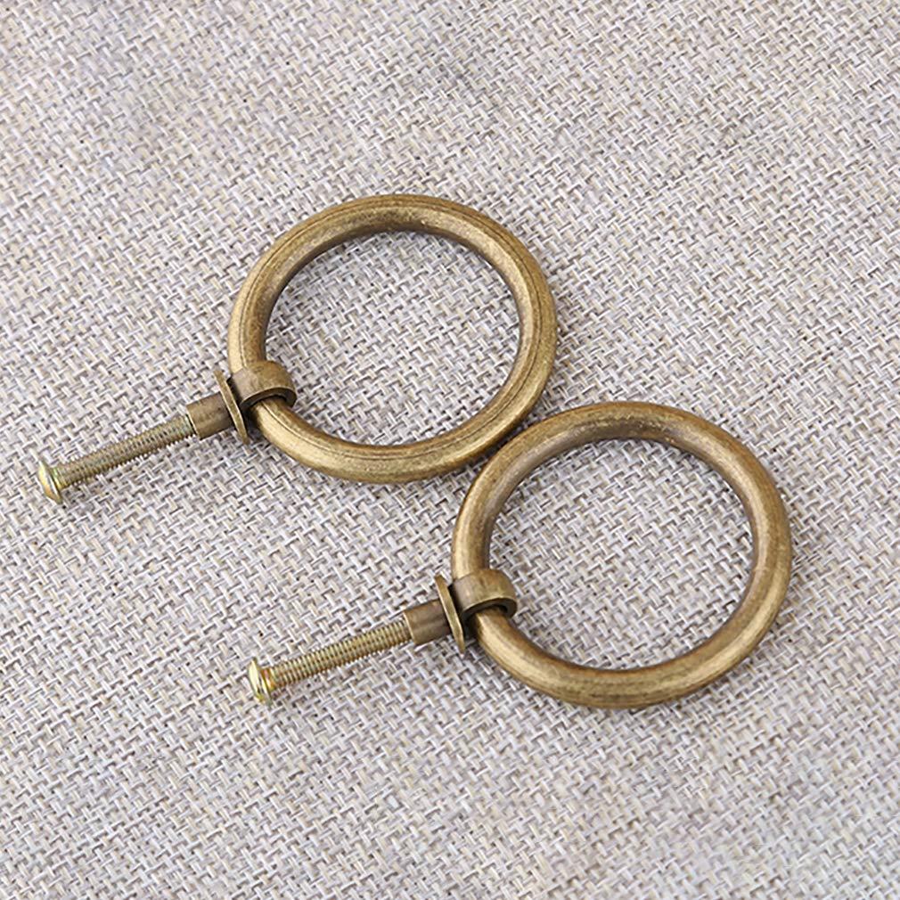 Tiazza 8 piezas de lat/ón antiguo tirador de anillo armario de cocina gabinetes muebles herrajes estilo retro peque/ño tirador anillo