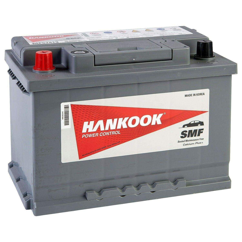 Hankook 74Ah Batterie de D/émarrage Pour Voiture 12V 680A 278x175x190mm