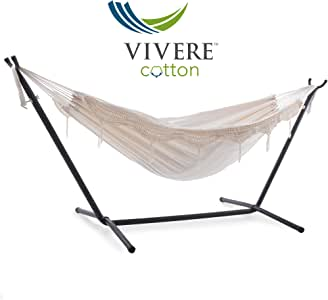 Vivere 8ft Double Hammock with Stand