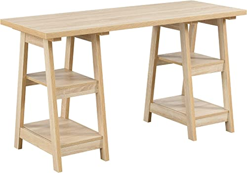 Convenience Concepts Designs2Go Double Trestle Desk