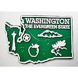 Washington the Evergreen State Map Fridge Magnet